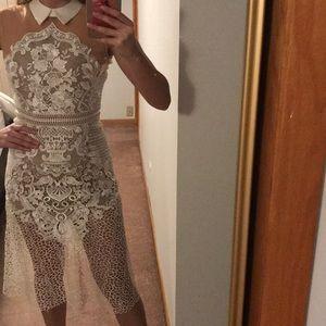 Self portrait white lace dress